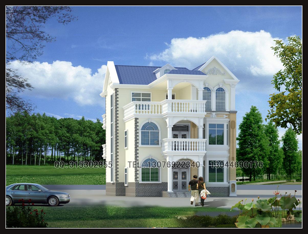新农村小别墅设计图-2层半现代别墅图片大全,单层小别墅设计图,二层小
