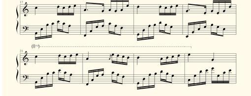 夜的钢琴曲四的键盘钢琴谱图片