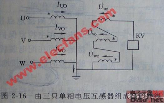 电压互感器接线方式图片