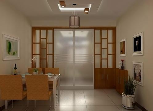 请问农村大客厅隔断怎么做?厅长8米x5米x高3米.从8米中做,两边做花架.图片