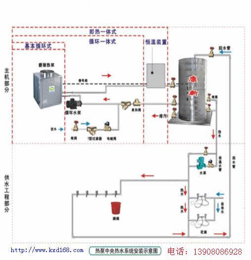 热水器接法示意�_空气能热水器循环泵安装示意图