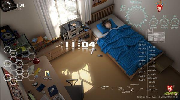 我想要韩国动画《闹钟》的电脑主题, win7系统,1680*1050分辨率.图片
