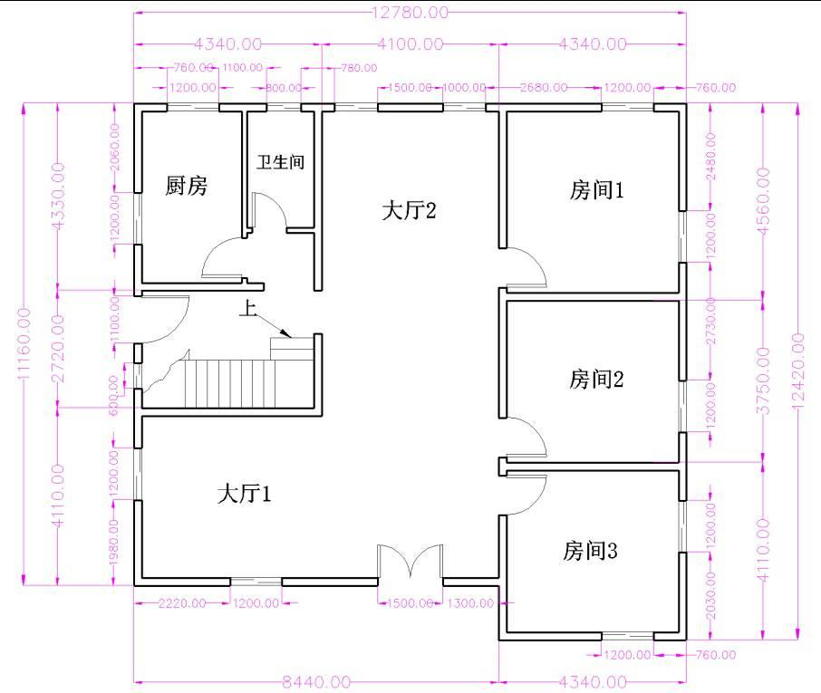 刚设计的农村楼房平面图