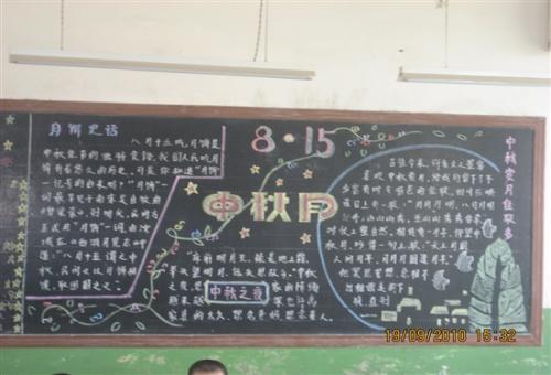中秋节和国庆节结合的黑板报资料图片