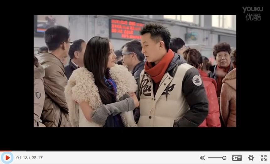 有谁知道杨幂在2013百事贺岁片中穿的那件白色毛毛的很大兔子耳朵的图片