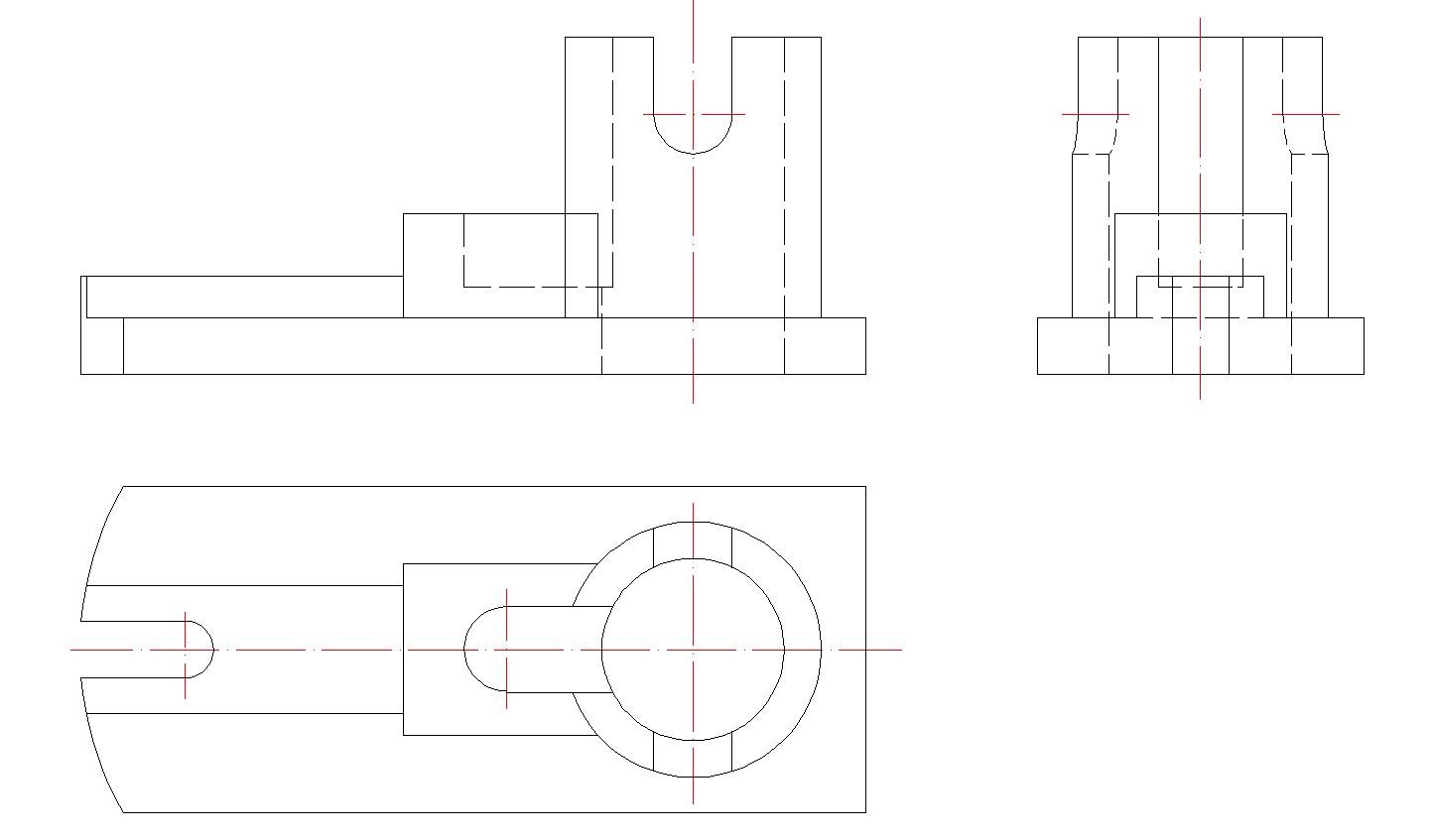 机械制图三视图标尺寸图片