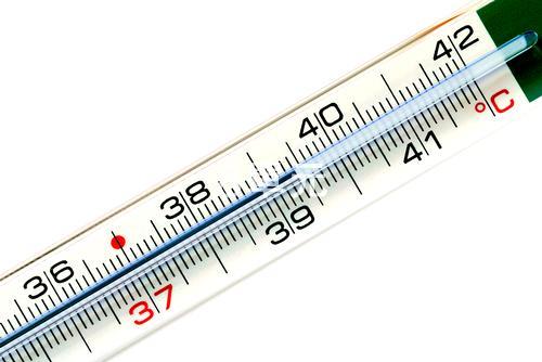 发烧度数体温计图片_