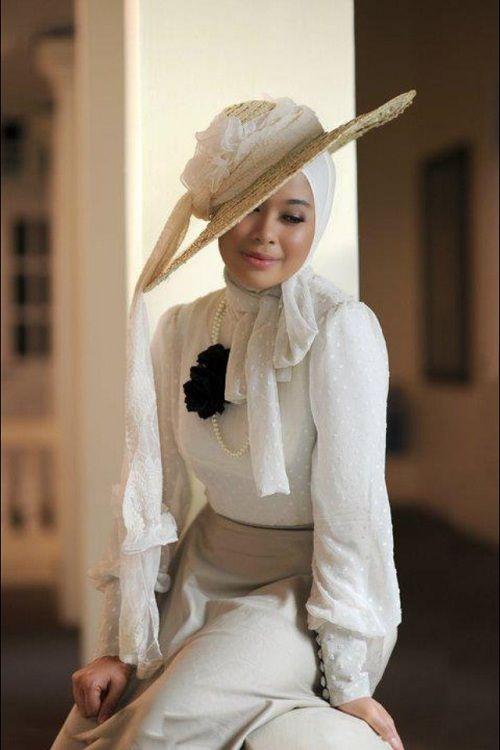 回族穆斯林纱巾的新潮戴法 (500x750)-穆斯林纱巾新款图片