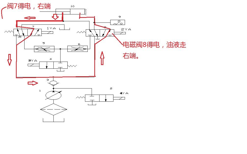 液压缸差动连接快速回路工作原理图片