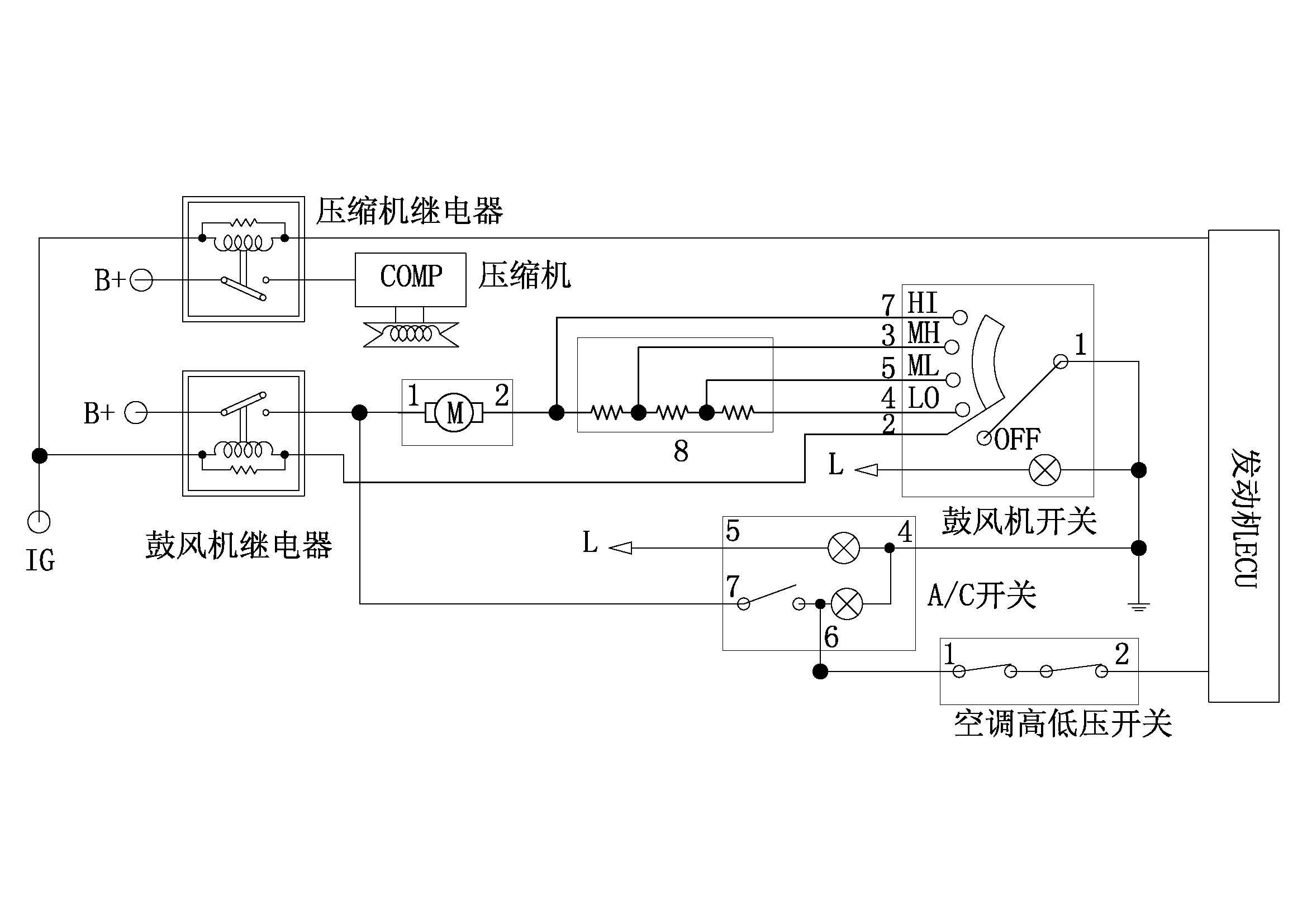 利用电磁阀控制的补水系统电路图?图片