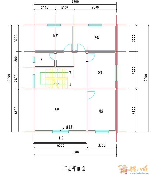 110平米自建房设计图|农村自建房子设计图|110平方自建房设计图|农村图片
