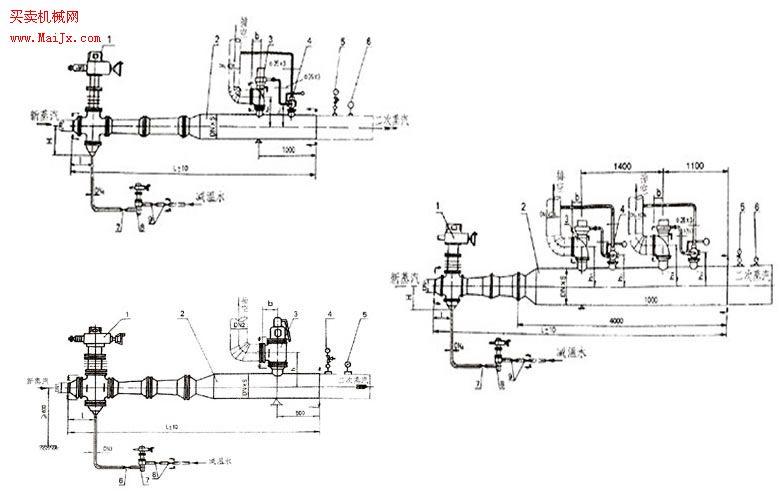3,安全系统:安全帽,止固阀等; 4,管路系统:蒸汽管路,过渡管,减温水管图片