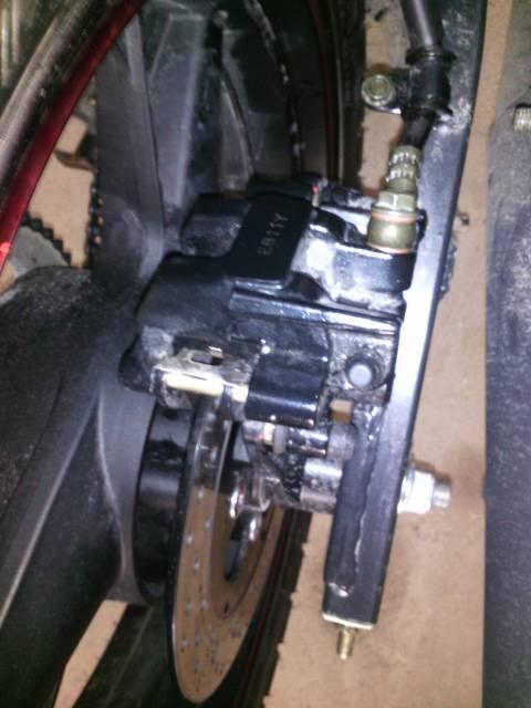 摩托车碟刹盘加了机油图片