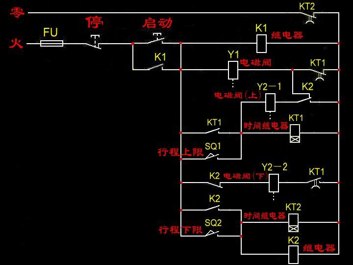 求气动控制电路图图片