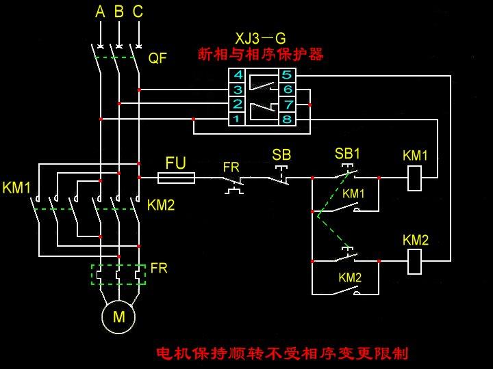 接触器自锁电路图图片大全 这个是带自锁功能的电路图,qa图片