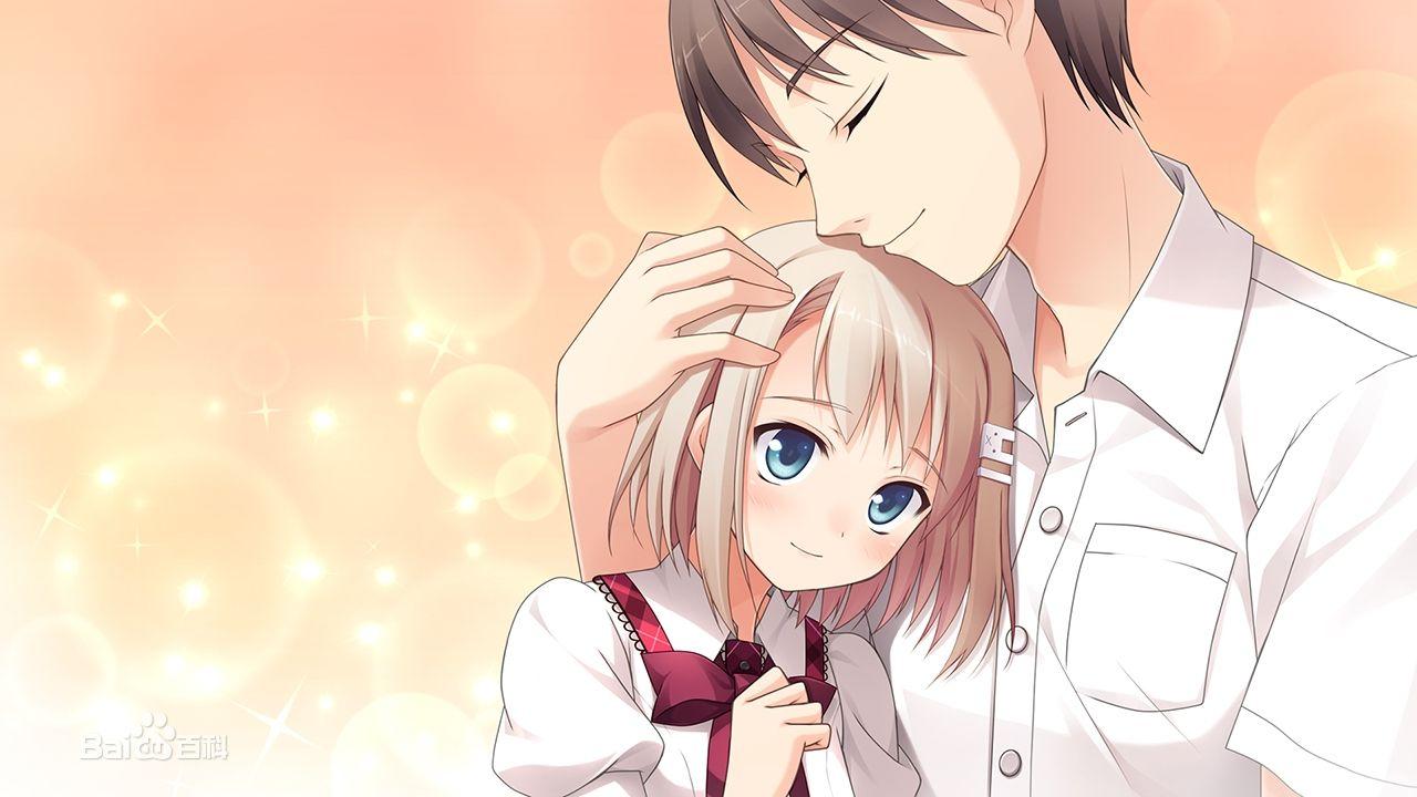 求温馨的图片,内容是:男孩摸着女孩的脸,或者 ...