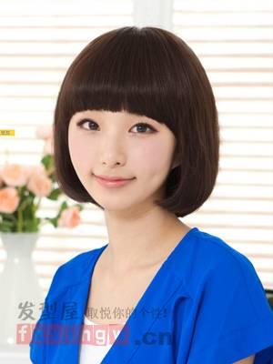 我是学生,圆脸,该弄什么发型好呢?注:女,16图片