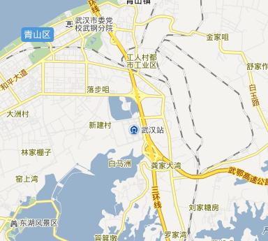 武汉火车站是专门为高铁修建的,地址在武汉青山区图片