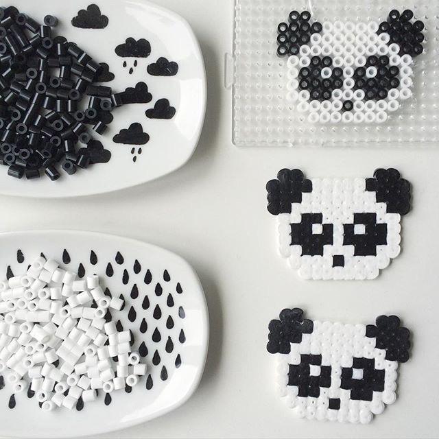 拼豆图纸小熊猫