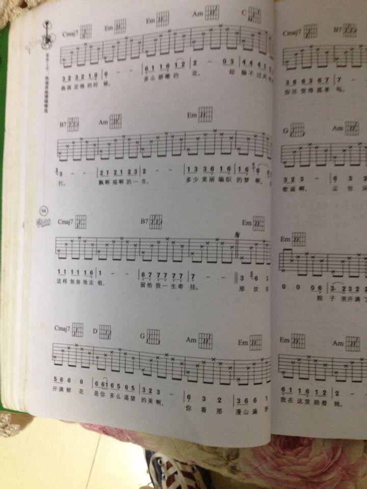丁香花吉他谱子内容|丁香花吉他谱子版面设计
