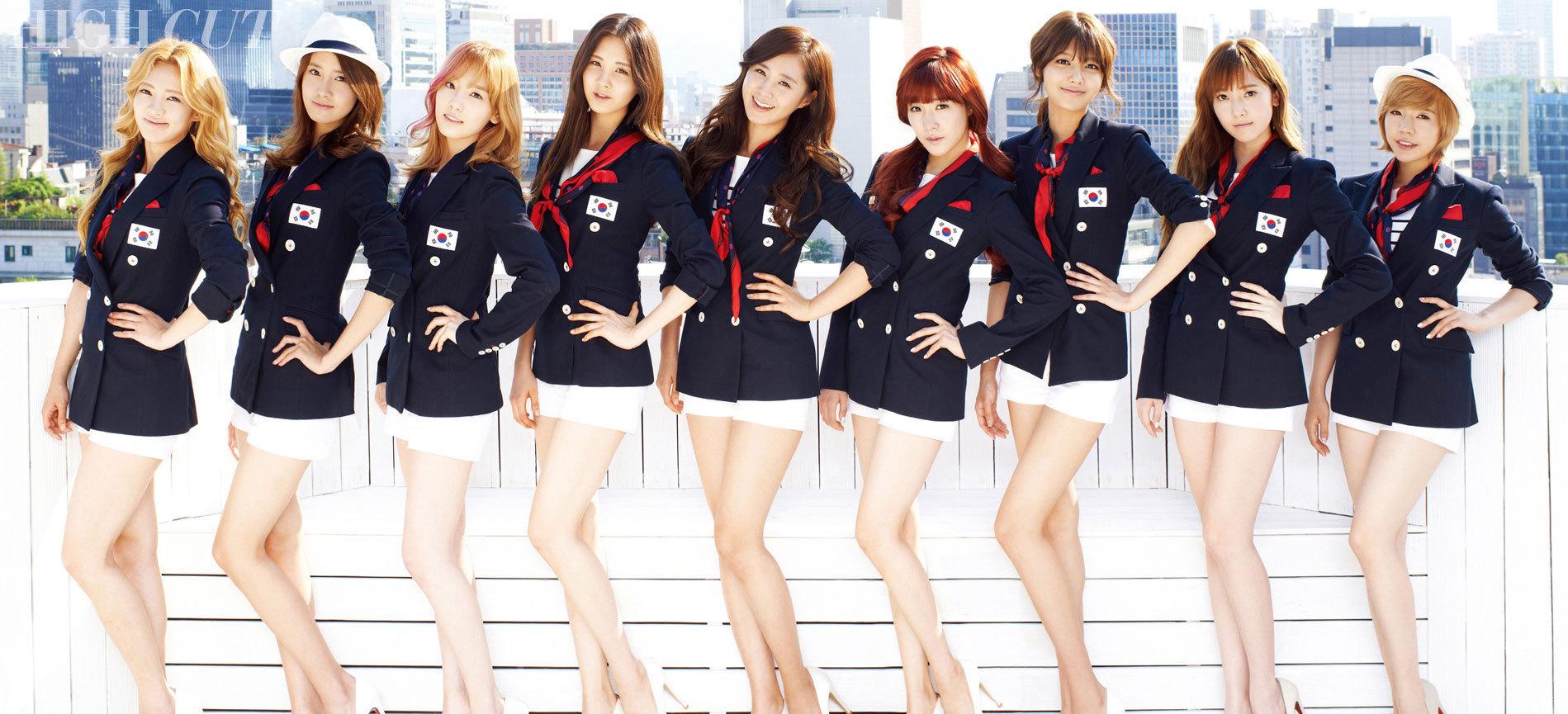 求少女时代为韩国助战伦敦奥运会拍摄的蓝色制服高清
