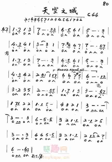 我是口琴初学者,用的是24孔c调口琴,吹星之所在.问一下用哪个音调?图片