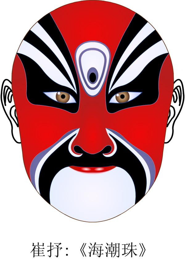 简单的京剧脸谱图片图片