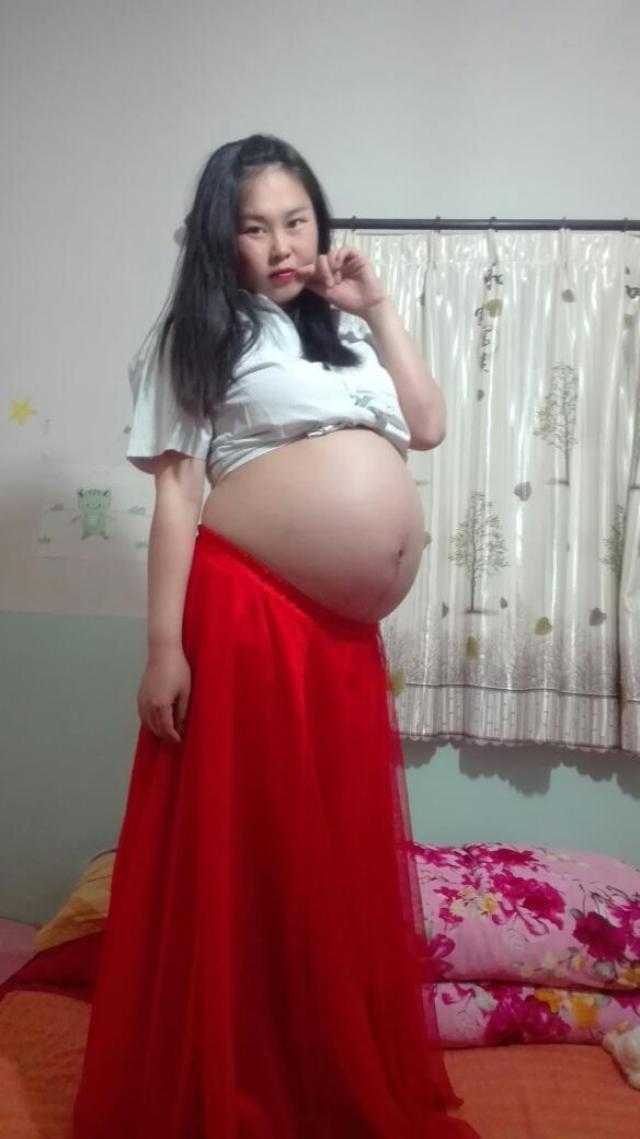 云美人的孕妇照一_发型设计图片