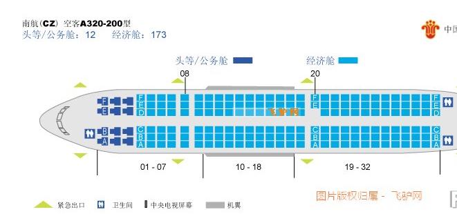南航cz6574空客321座位靠窗的哪个座位不会被机翼图片