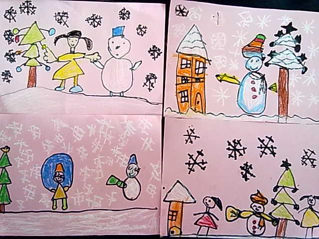 幼儿绘画成长心语冬天到了怎样画图片