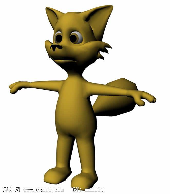 狐狸 maya卡通角色3d模型高清图片