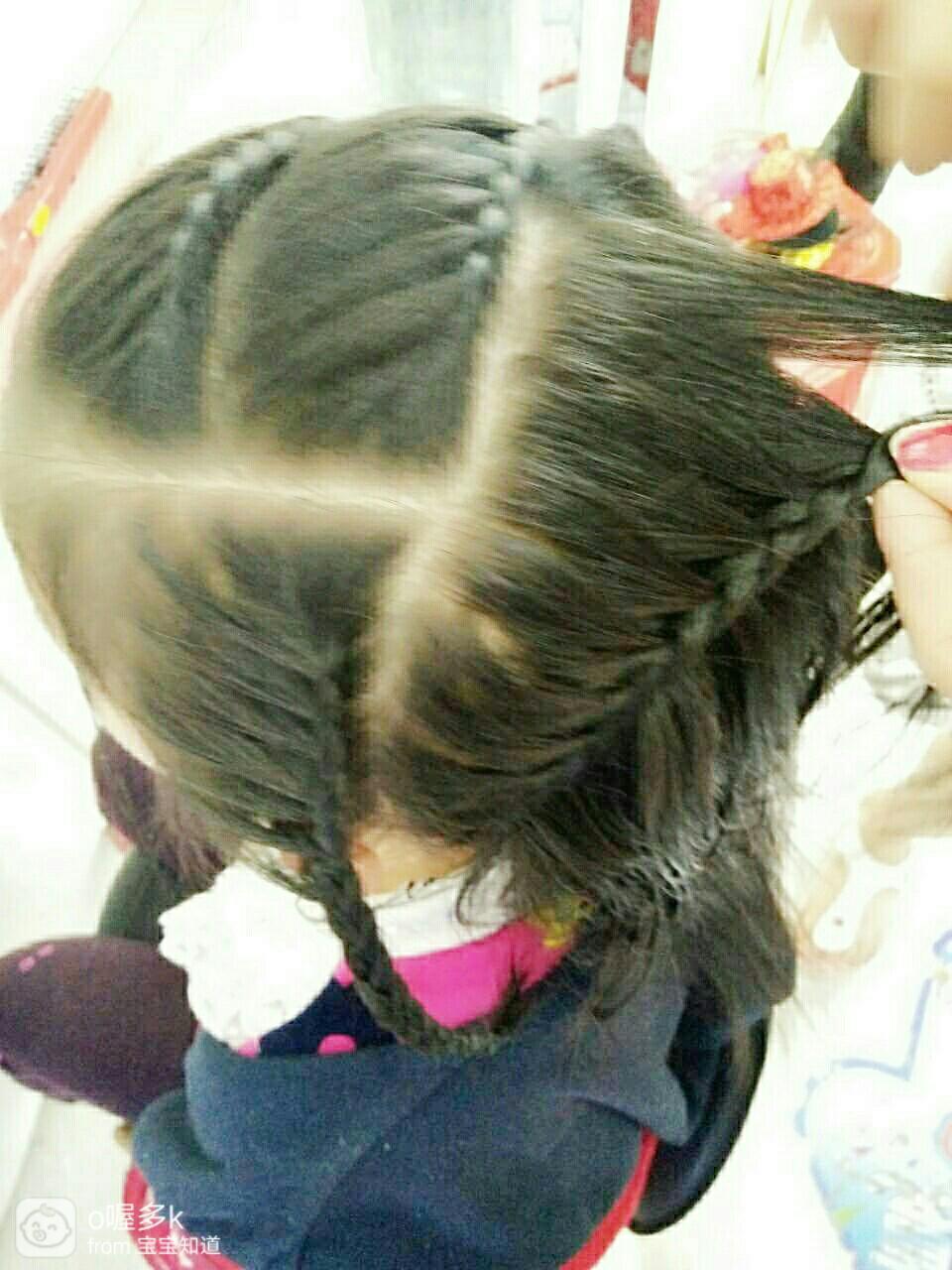 经验#【萌宝发型】小公主街拍发型!图片
