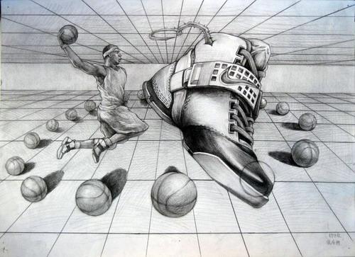 简单正面铅笔画鞋子图片