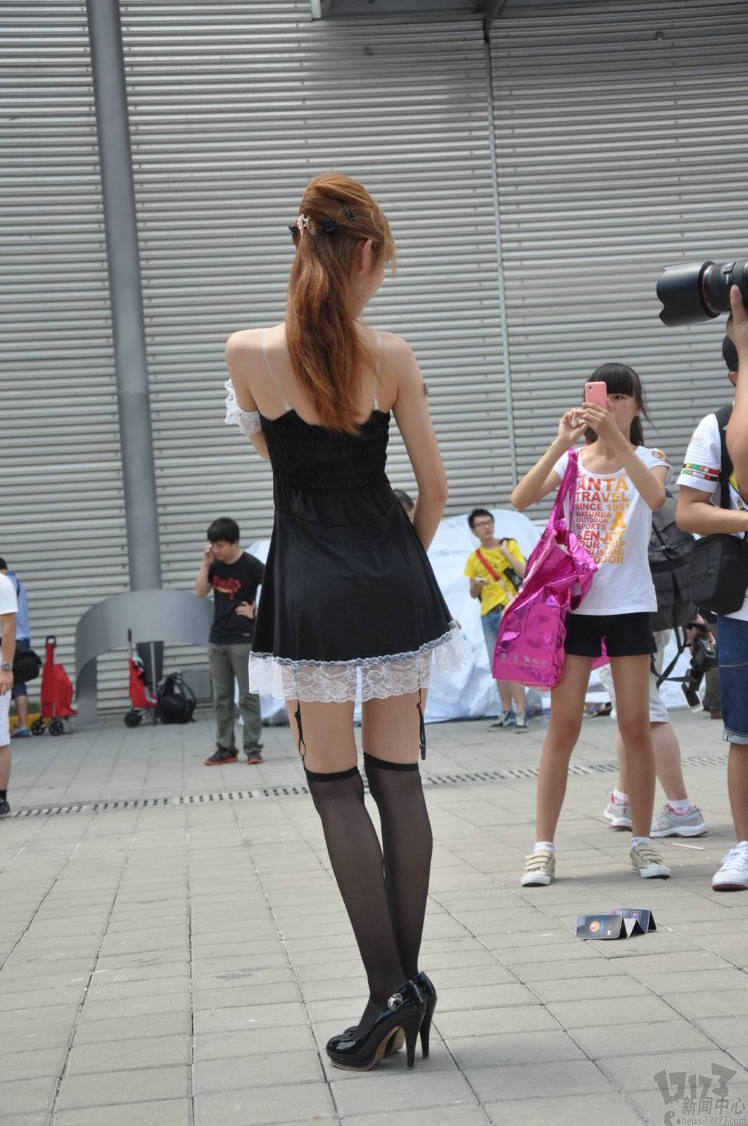 chinajoy清爽养眼的短裙美女;