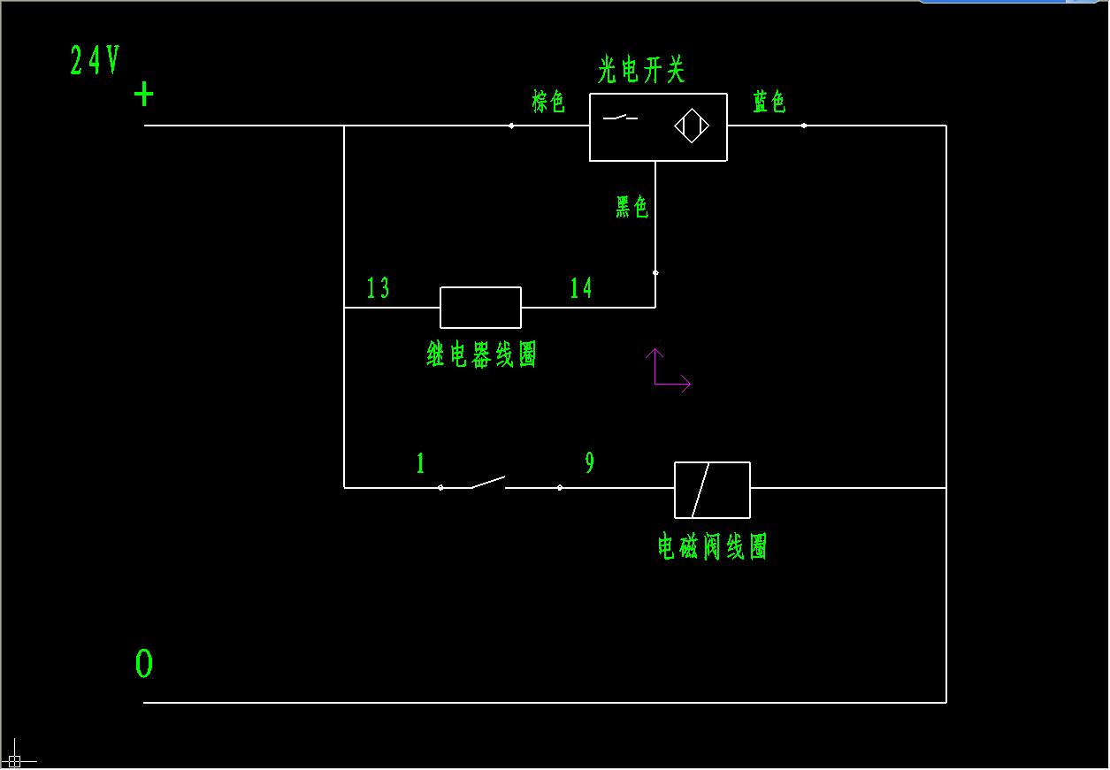 光电开关和继电器怎样控制一个电磁阀动作图片