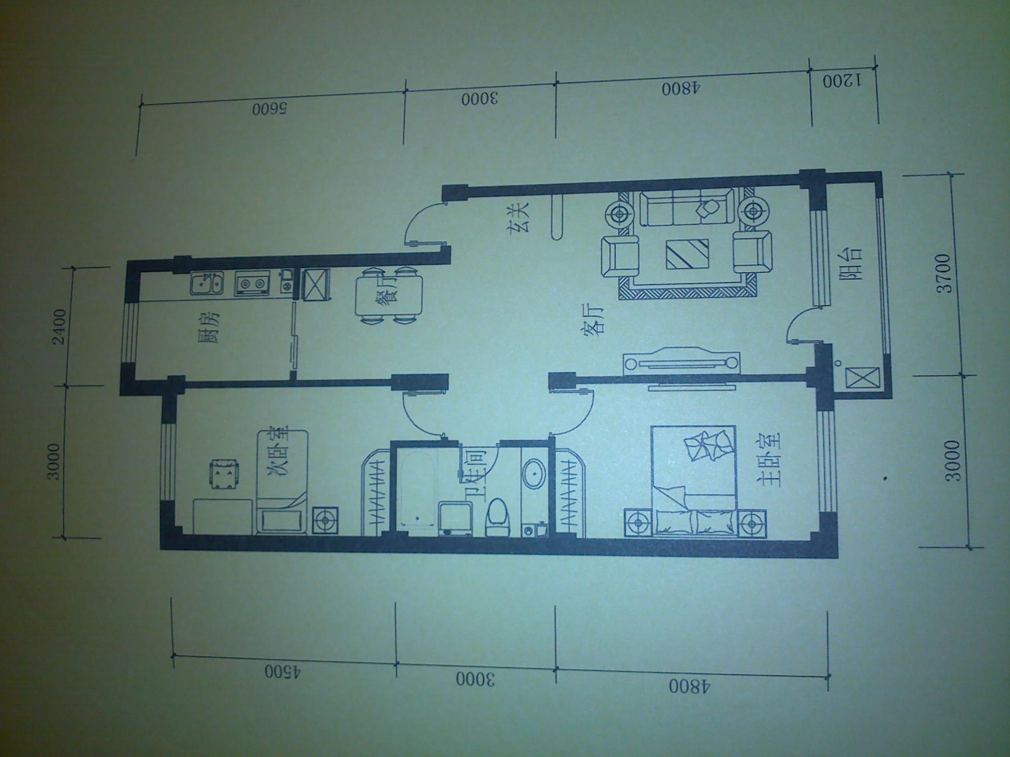 求房子的设计效果图 以下是房子的平面图.xuzhenfei8 高清图片