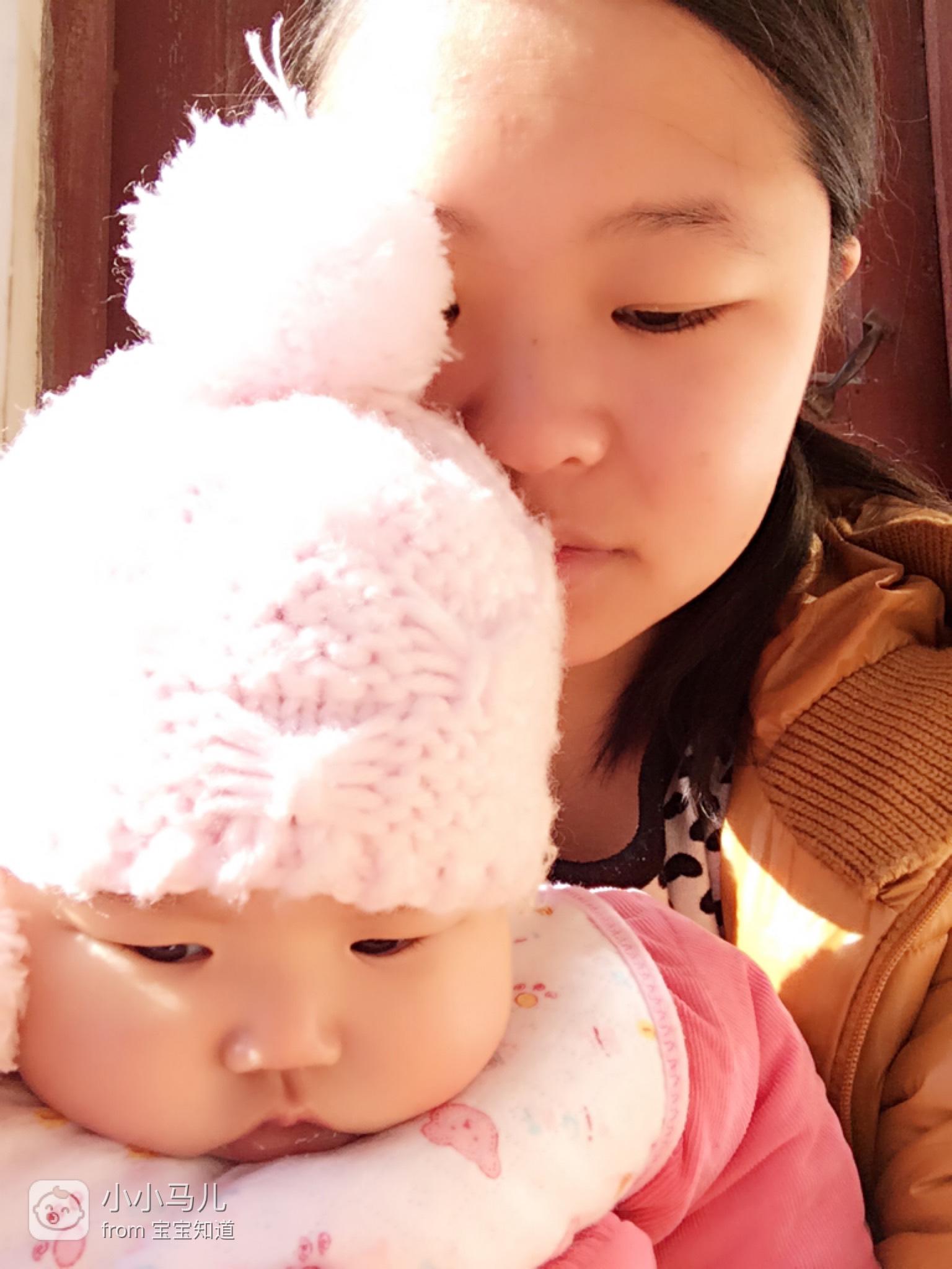 【萌宝表情包】我和麻麻神同步_百度宝宝知道图片