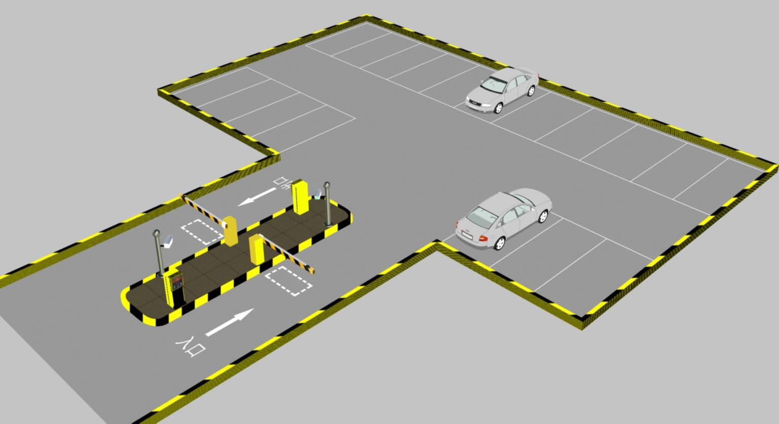 最容易安装的停车场管理系统?施工需要图片