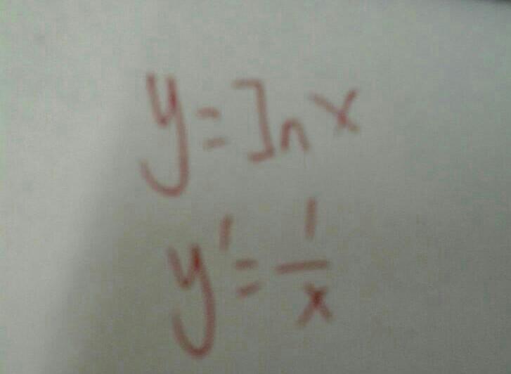 ln函数和x函数