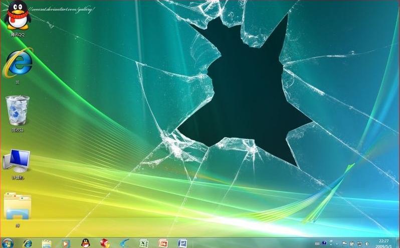 不是桌面……是屏幕保护程序……图片