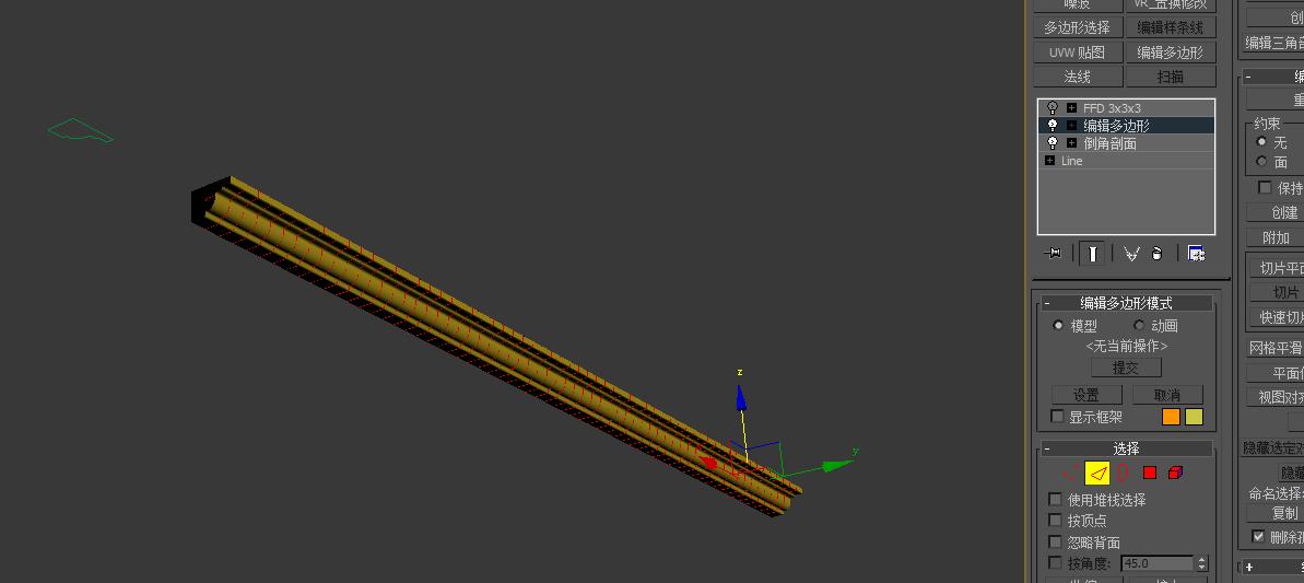 3dmax中文版怎么把石膏线模型做成弯曲的图片