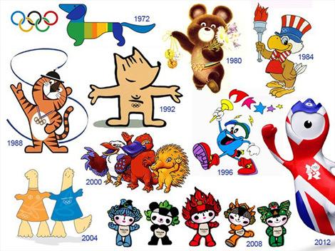 下图是历届奥运会吉祥物: 下图是历届世界杯吉祥物图片