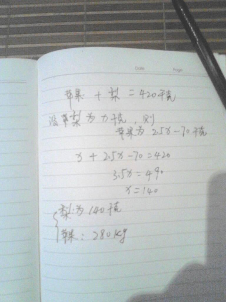 小学数学2题用方程式解图片