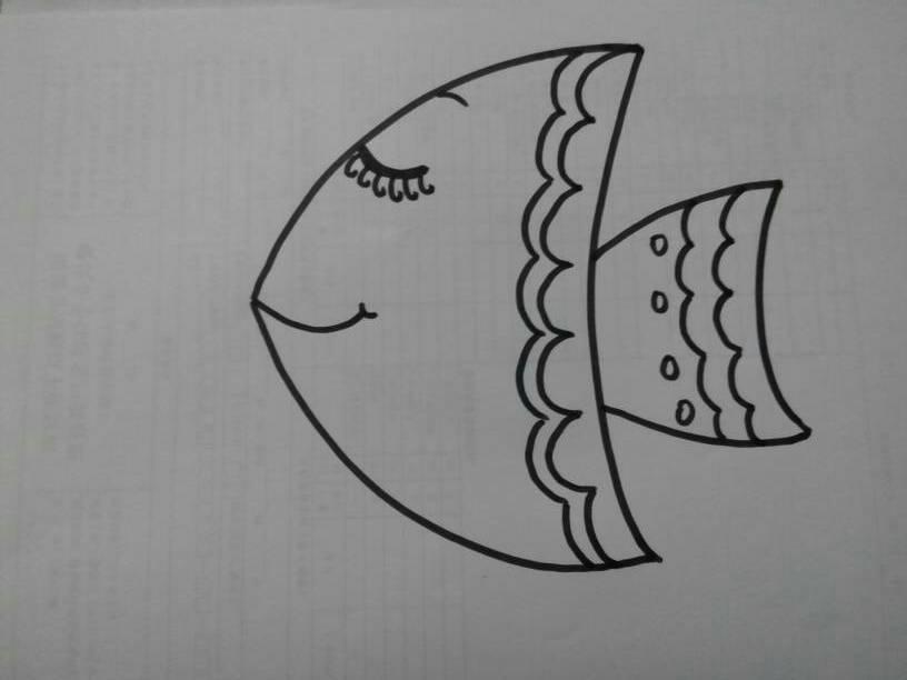 手把手教你画简笔画:热带鱼图片