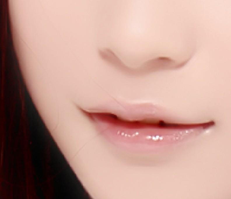 谁有女孩嘴唇粉色的图片啊