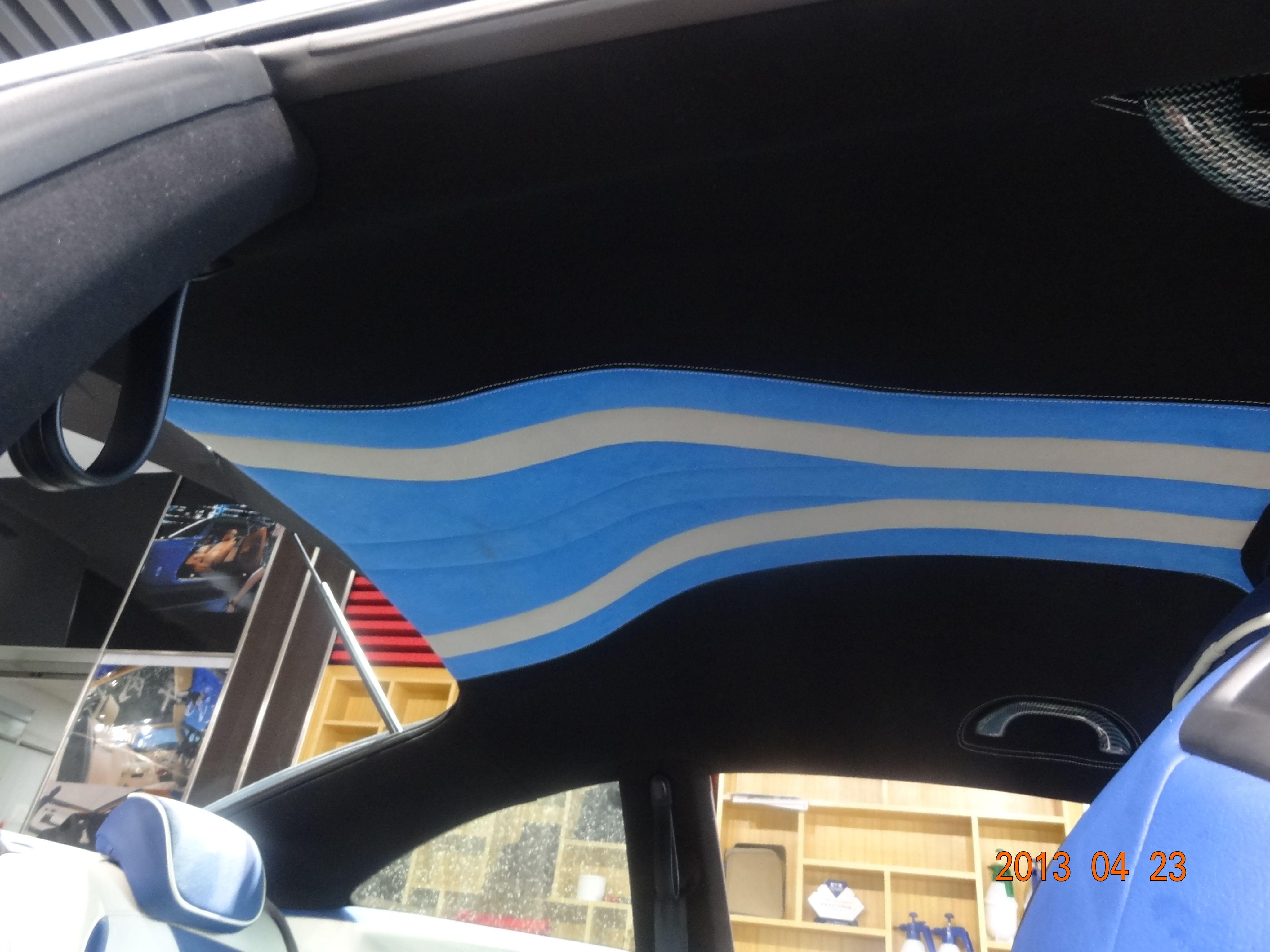 汽车内饰顶棚改装高清图片