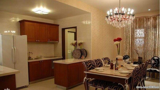 求一体式客厅厨房装修效果图