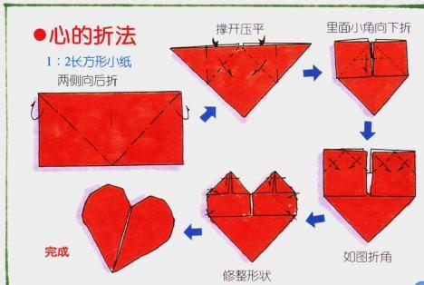 心用折纸怎么叠?图片