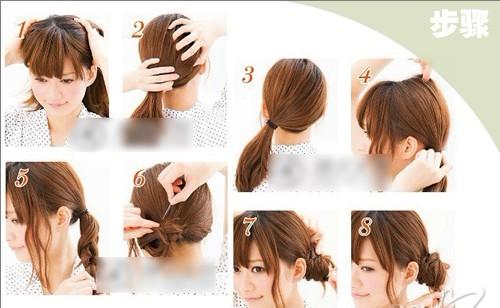 12岁女孩有齐刘海怎样扎头发简单好看图解图片