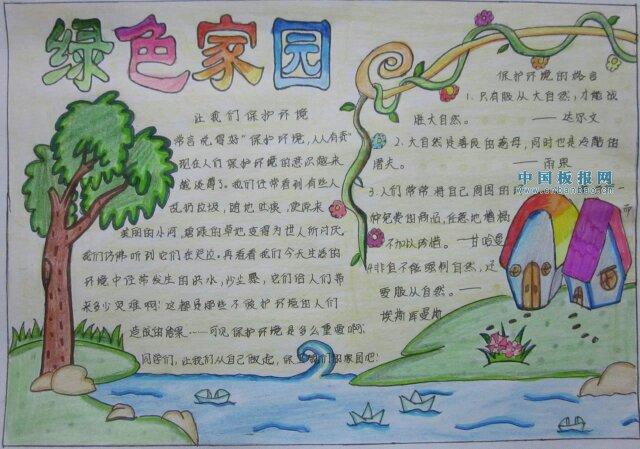 关于爱护环境的手抄报分享展示